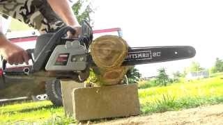 20'' chainsaw shootout. Craftsman 50cc,Stihl ms271 Farmboss,Bluemax and Husqvarna 450 rancher