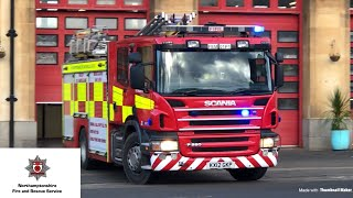 Northants Fire and Rescue responding blues + twos