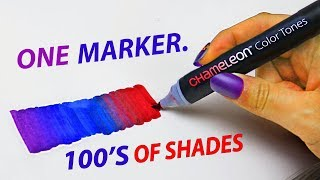 1 MARKER, 100'S OF COLORS: Testing Chameleon Markers