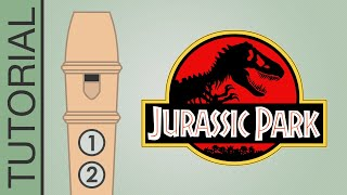 Jurassic Park Theme - Recorder Notes Tutorial - Flauta Dulce