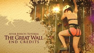 The Great Wall end credits tutorial