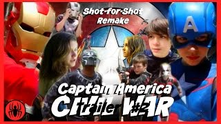 Captain America: Civil War Trailer 2 Shot-for-shot remake sweded w kid deadpool | SuperHeroKids
