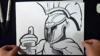 Download video Como dibujar una lata de pintura de graffiti  How