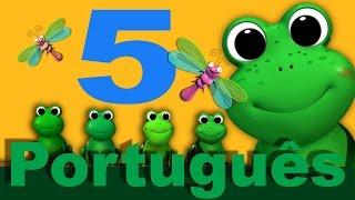 Cinco pequenos sapos | canções infantis | LittleBabyBum