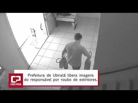 Imagens do responsável por roubo de extintores em Ubiratã -Cidade Portal