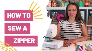 HOW TO SEW A ZIPPER   SEWING FOR BEGINNERS