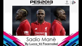 หน้าและทรงผมนักเตะ - Sadio Mané (มาเน่)(face+hair) PES 2013
