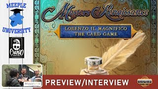 Masters of Renaissance Lorenzo Il Magnifico The Card Game - Preview & Interview Origins 2019