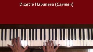 Bizet Carmen Habanera Piano Tutorial at Tempo