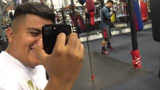 Pita goes Live on instagram at RGBA while Mikey training - EsNews Boxing