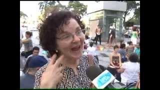 Evento no Rio estimula a troca de olhares entre desconhecidos