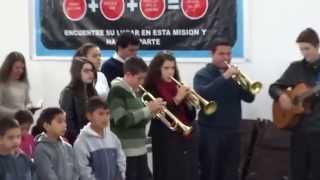 Gideões Argentino em São Bernardo louvam a Deus com Hino da harpa Crista