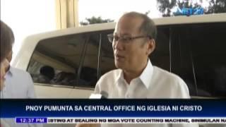 President Benigno Aquino III visits Iglesia Ni Cristo Central Office