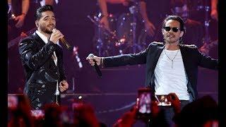 Maluma y Marc Anthony Estrenan 'Felices Los 4 Salsa' en Premios Juventud 2017