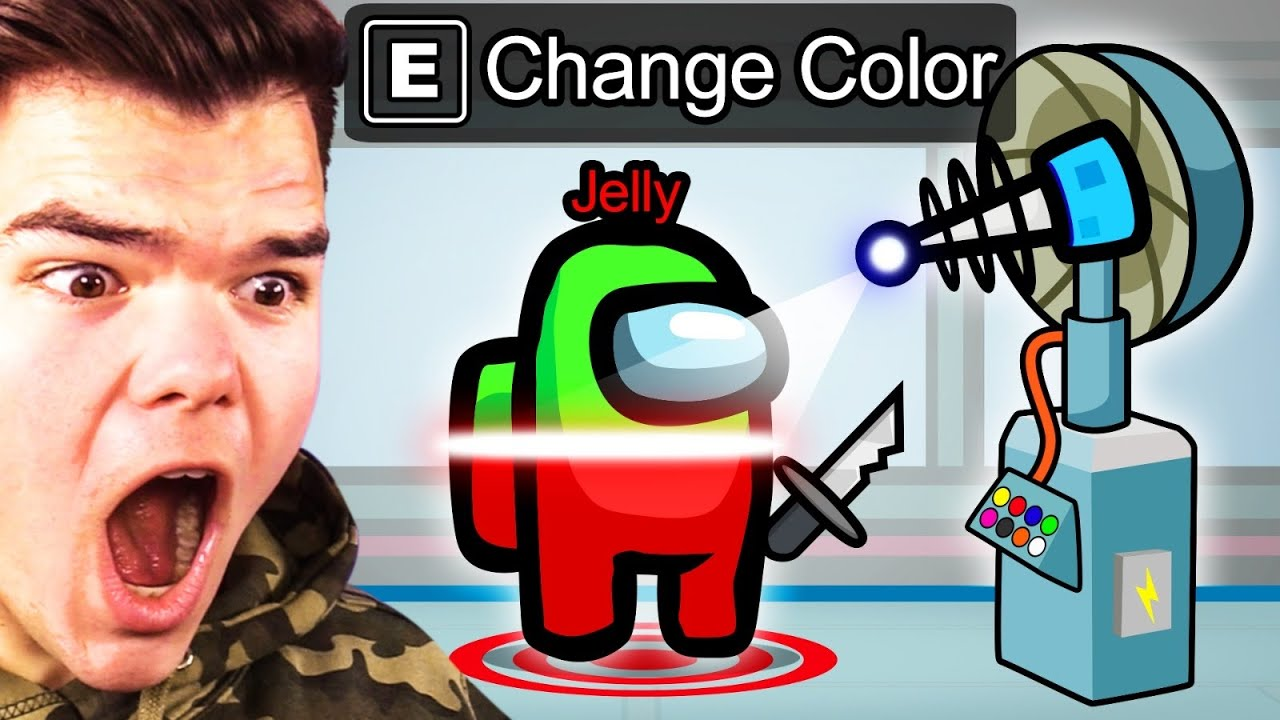 Jelly - CHANGING COLOR As The IMPOSTOR In AMONG US! (Cheat)