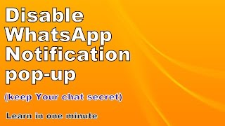 WhatsApp notification problem | in one minute