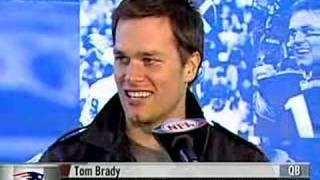 Tom Brady response to Plax prediction of Giants winning 2012 LOL STUPID