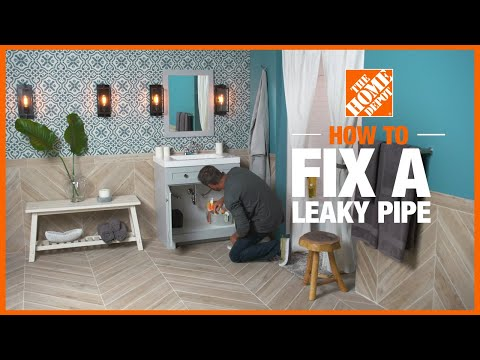 A video showing different methods of how to fix a leaky pipe.