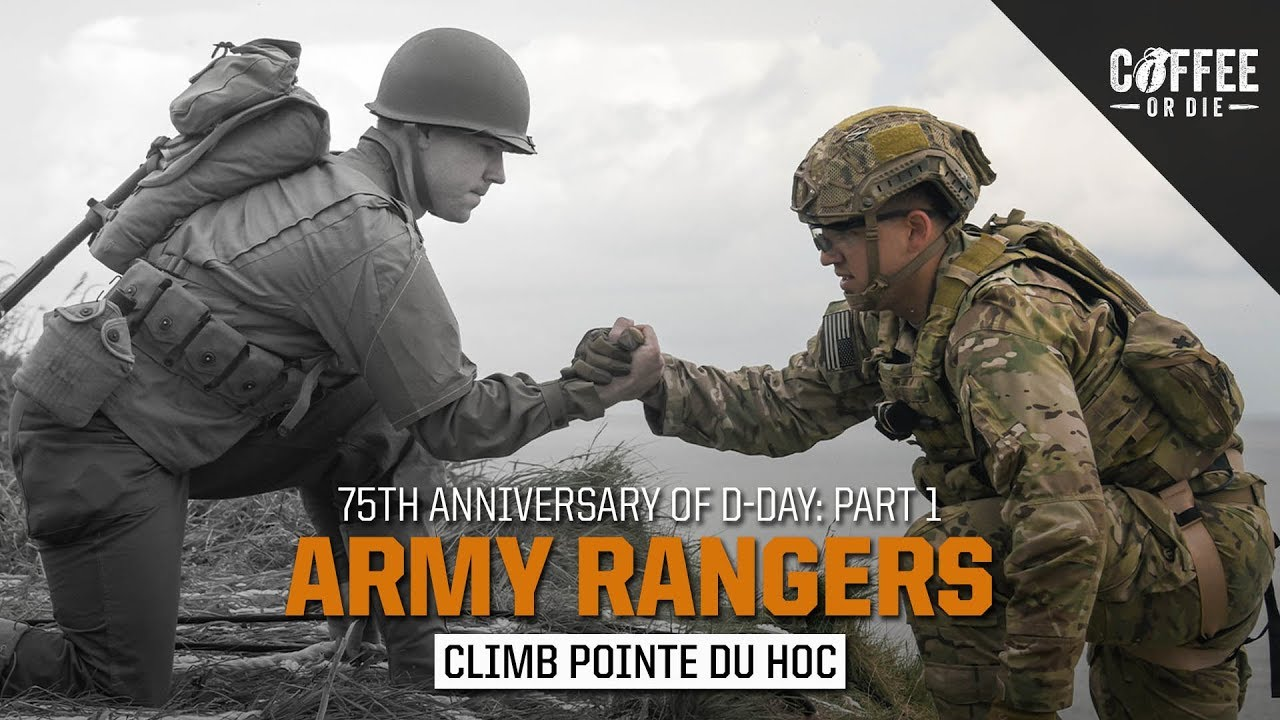 Army Rangers Climb Pointe du Hoc!