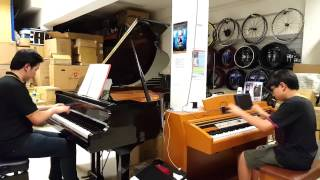 Two Pianos Jam-Moonlight sonata 3rd movement-Animenz & Pianominion
