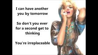 Irreplaceable - Beyoncé (LYRICS)