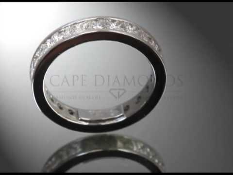 Eternity ring,cushion diamonds,engagement ring