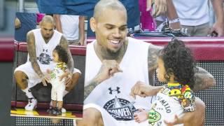 Chris Brown Brings Royalty to Celebrity Basketball Game | Splash News TV | Splash News TV