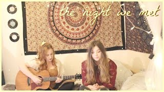 the night we met - lord huron cover 💛 (roxysdaydream & shannon st. clare)