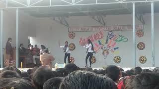Aditya Birla intermediate college Aaj ki party' school girl dance reunkoot Sonbhadra