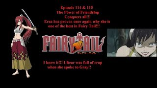 THE POWER OF FRIENDSHIP! I KNEW ULTEAR WAS FULL OF CRAP! FAIRYTAIL EPISODE 114 & 115(BLIND)REACTION