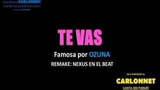 Te vas - Ozuna (Karaoke)