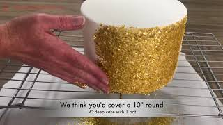 How to make an Edible Glitter Cake