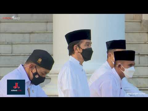 Presiden dan Ibu Negara Salat Id di Halaman Istana Bogor