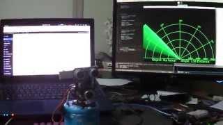 Sonar Arduíno + Processing