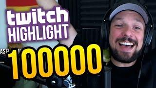 Hitting 100000 Subscribers Live on Stream ★ Livestream Highlight