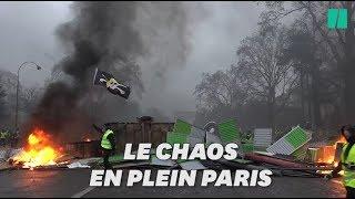 Gilets jaunes: les images du chaos à Paris