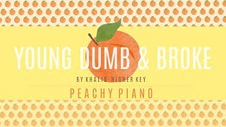 Young Dumb & Broke - Khalid (Higher Key) | Piano Backing Track