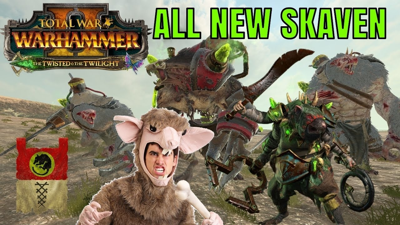 Turin - ALL NEW SKAVEN UNITS   The Twisted & The Twlight DLC - Throt, Mutant Rat Ogres, Wolf Rats & More!