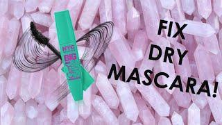 HOW TO FIX DRY MASCARA | MAKE DRY MASCARA NEW AGAIN