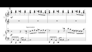 Super Mario Bros. Theme Piano Four Hands. arranged by Isao Horikoshi