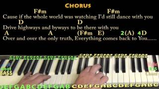 This Town (Niall Horan) Piano Lesson Chord Chart with On-Screen Lyrics