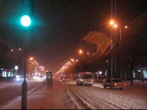 21.01.2010 Real winter in Zaporizhzhya,Zaporozhye,Ukraine.wmv