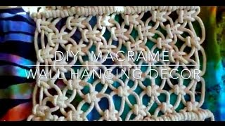 ❁HOW TO / DIY MACRAME WALL HANGING DECOR // BOHO ROOM DECOR❁