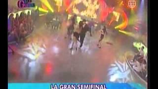 Claudia Reynoso bailando con Rafael en Esto es Guerra