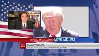 Mariusz Max Kolonko - Mówi jak jest - Klimat Trumpa