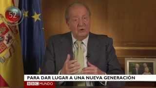 Boletín: el rey de España deja el trono y otras noticias (con subtítulos en español)