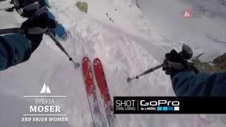 Silvia Moser | 3rd Skier Women | FWT15 Chamonix-Mont-Blanc GoPro run