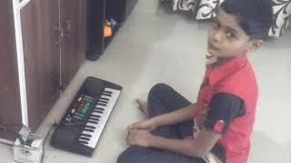 Akshat plays Vande Matram on piono
