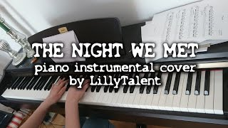 THE NIGHT WE MET - Lord Huron (Piano Cover Instrumental)