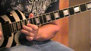 Another way to die guitar solo. Reg/slow. Disturbed Cover.